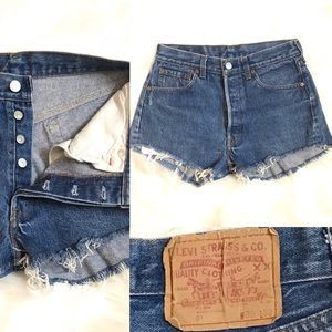 Levi's 501 custom cutoff shorts sz 30 high rise